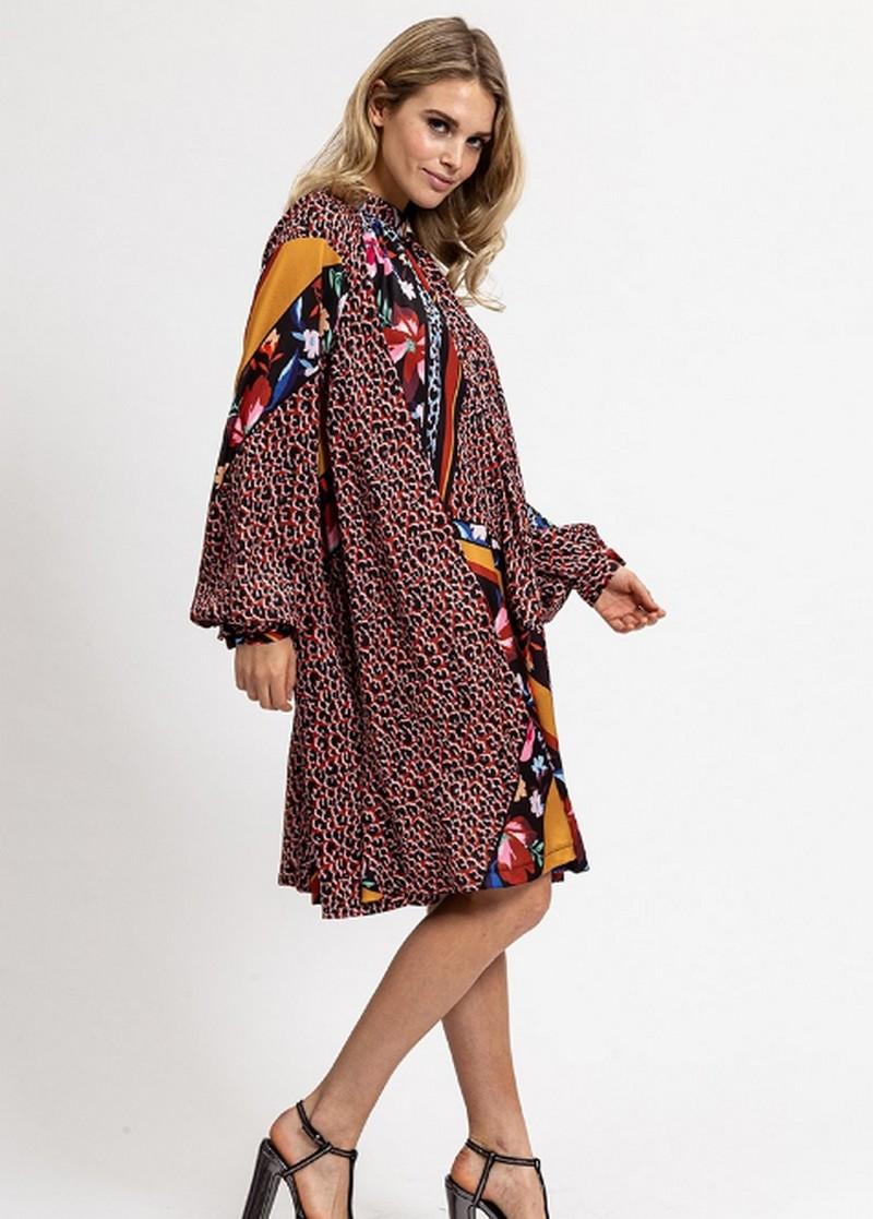 Robe Loose à Imprimés Mixtes MEYRE