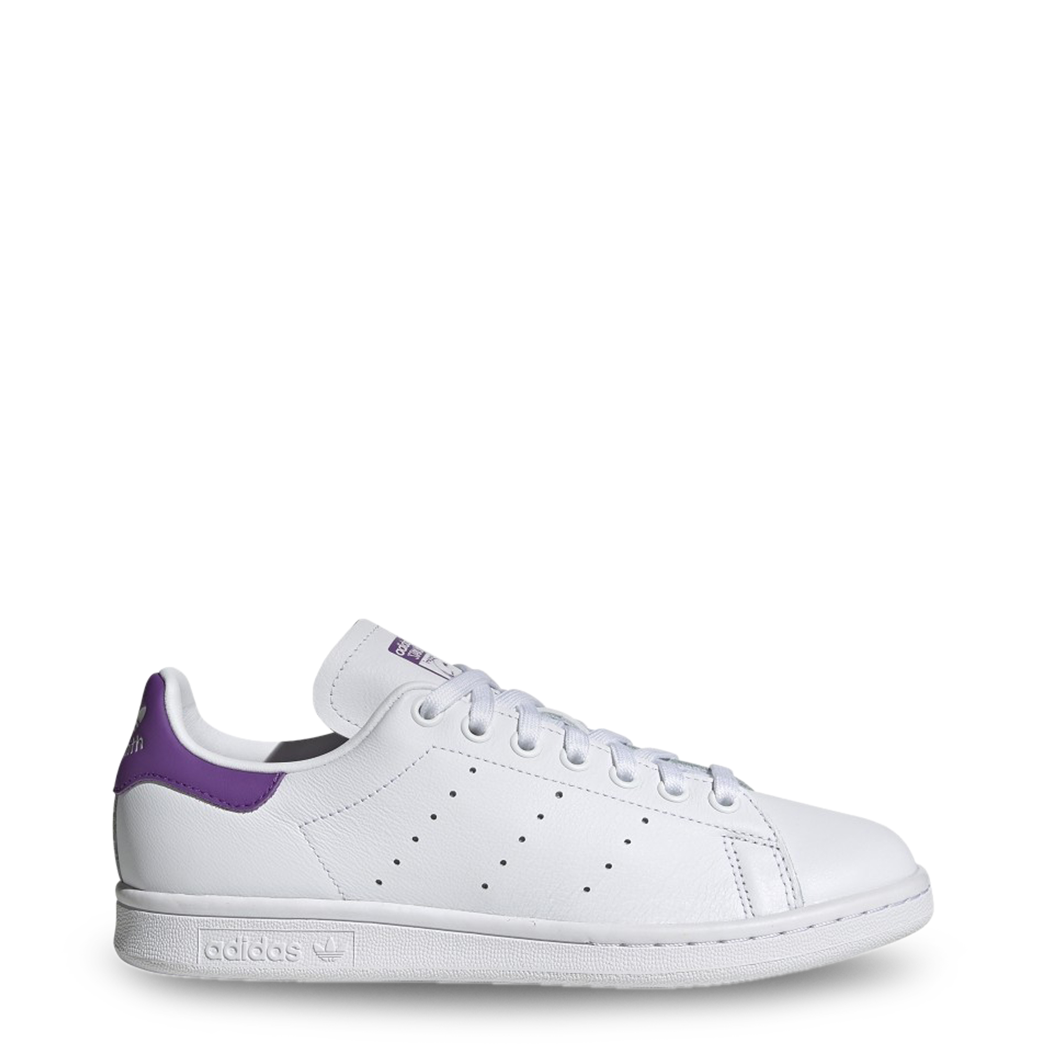 Baskets Stansmith Adidas Blanc Violet