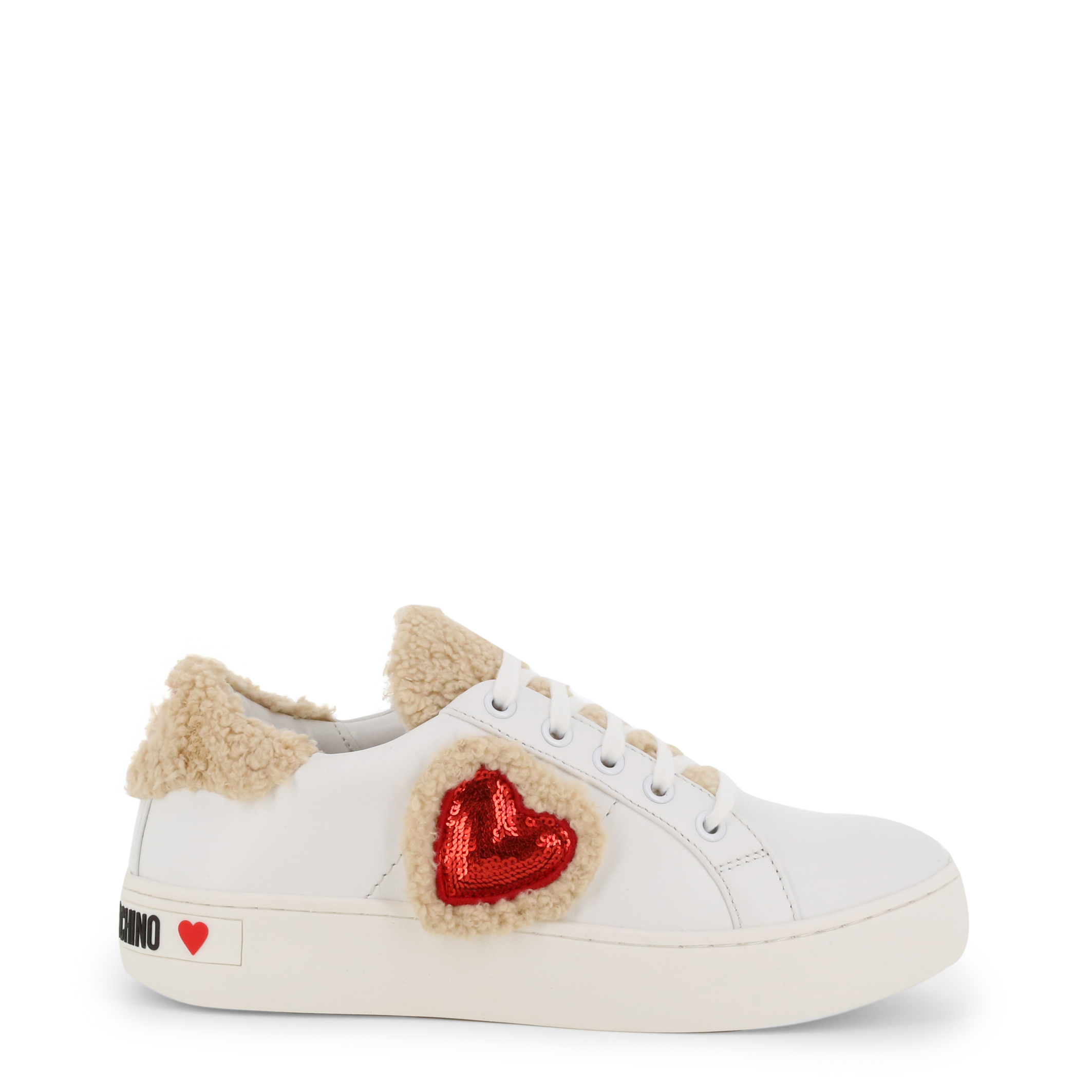 Baskets Blanches à Coeur Love Moschino JA15543G08JDX