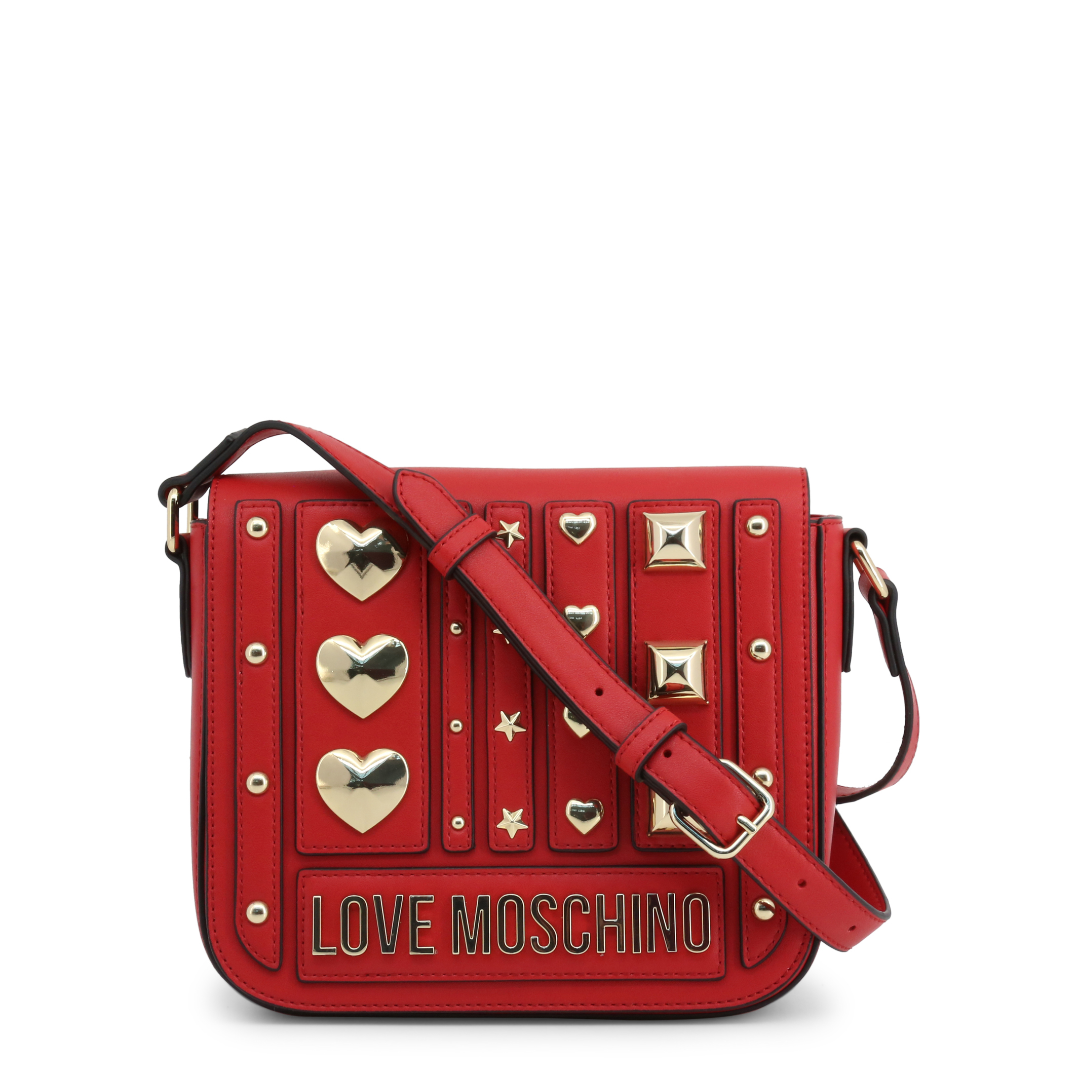 Sac Bandoulière Rouge à Clous Love Moschino JC4239PP08KF