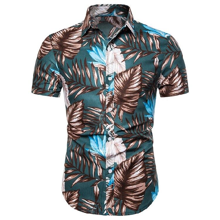 Chemise Homme Tropicale à Manches Courtes HAWAI