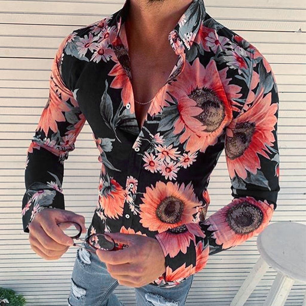 Chemise Homme à Fleurs Cintrée 3 Modèles