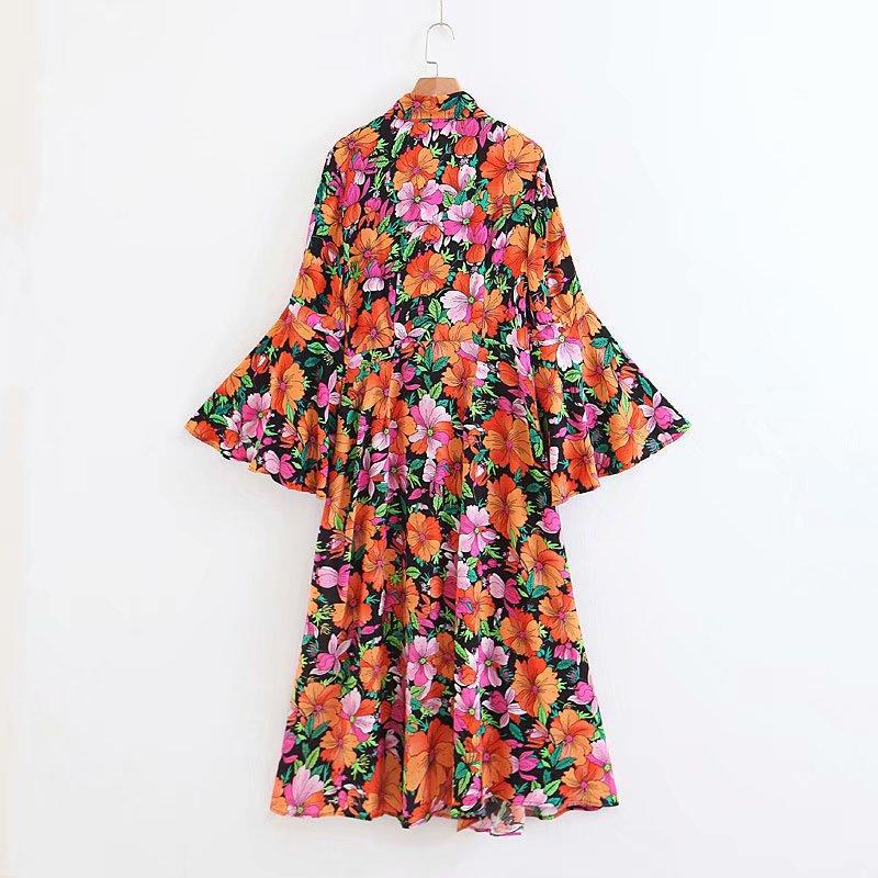 Robe Longue Fleurie Colorée Seventies YIWA