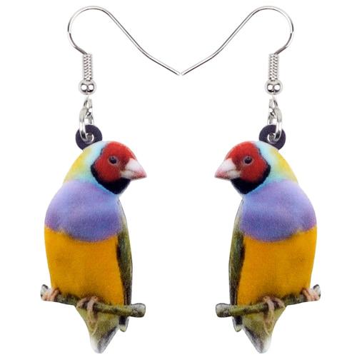 Boucles d\'Oreilles Oiseaux Colorées