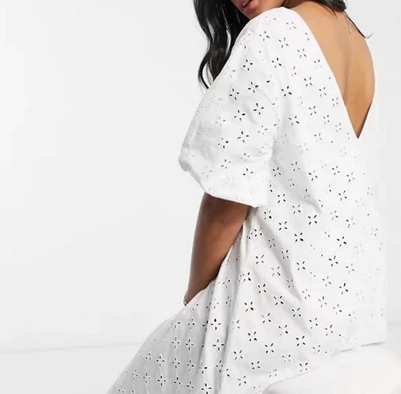 Robe Courte Crochet Blanche PATAYA