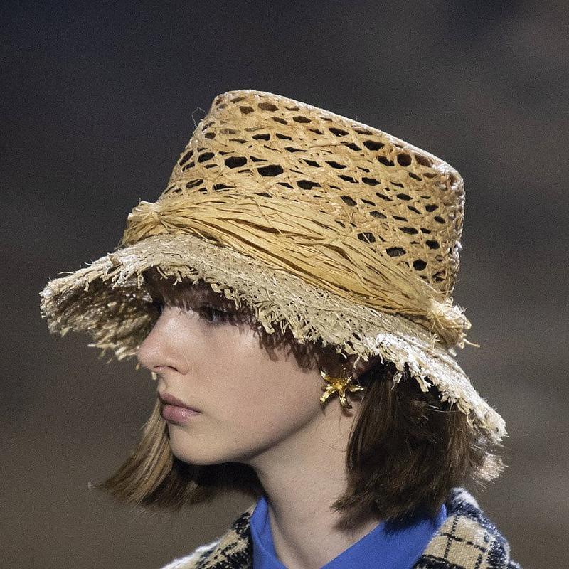 Chapeau de pêcheur en Paille Rétro Ajouré Différents Modèles