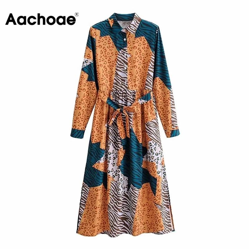 Robe Midi Patchwork Animal OZA
