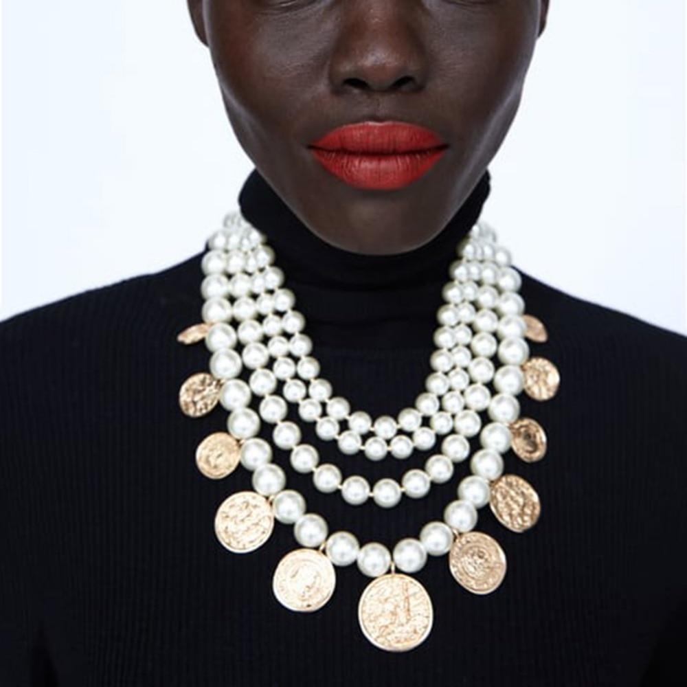 Collier Multi Fantaisie Perles et Médaillons