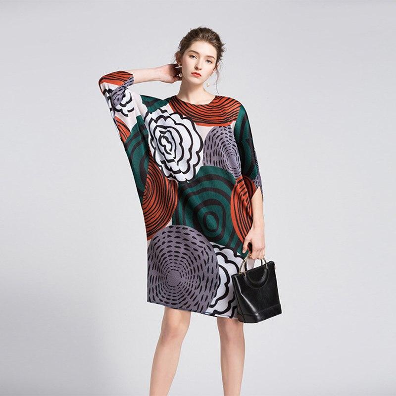 Robe Graphique à Manches Chauve Souris SIRINE 3 Modèles