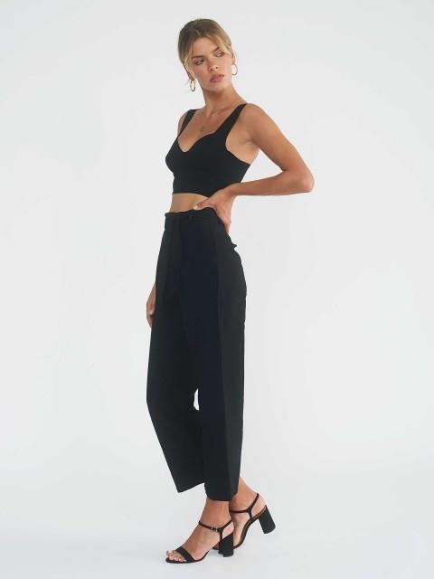 Pantalon Noir Taille Haute JANE