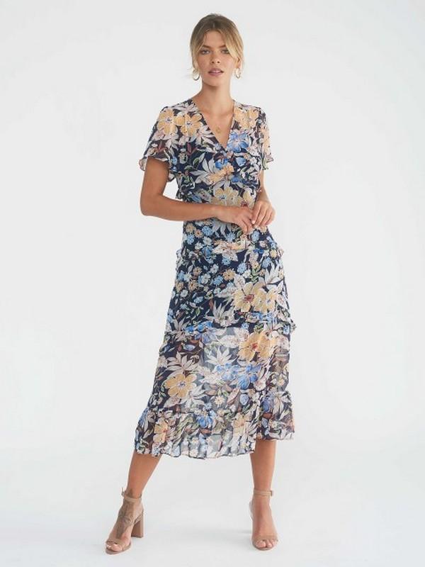 Robe Longue Fleurie Volantée EDWINA