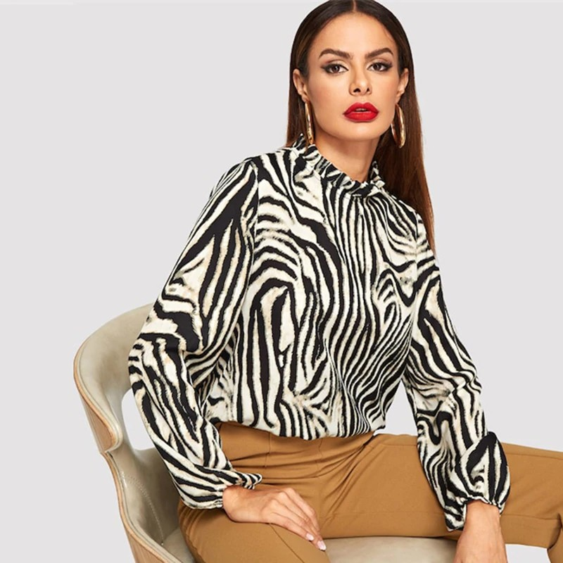 Blouse Animale Zèbre ZEBRA