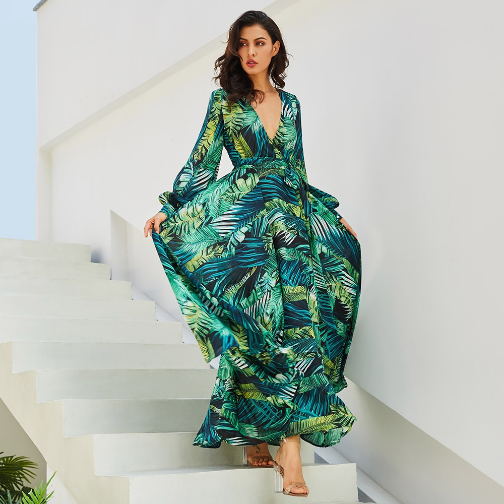 Maxi Robes Boho Tropicale WEST 3 Coloris