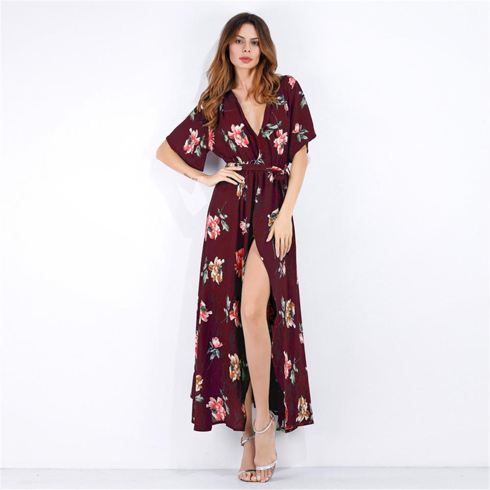 Robe Longue Fleurie Portefeuille Différents Modèles CUTE