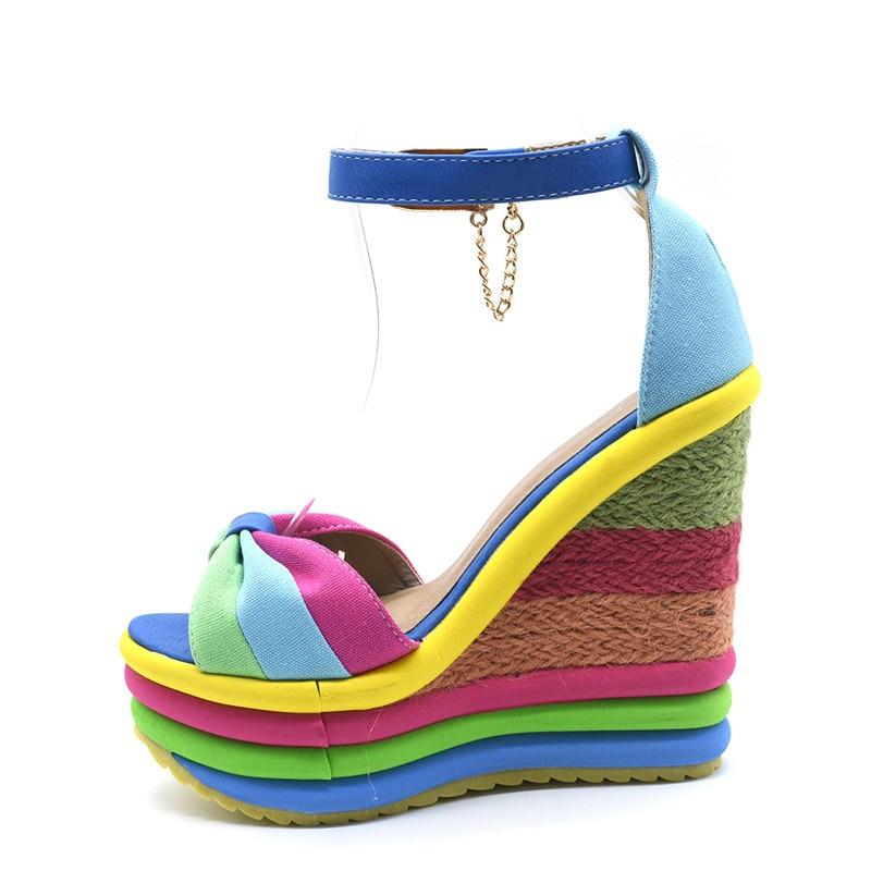 Sandales Compensées Espadrilles Colorées SUMMER 2 Coloris