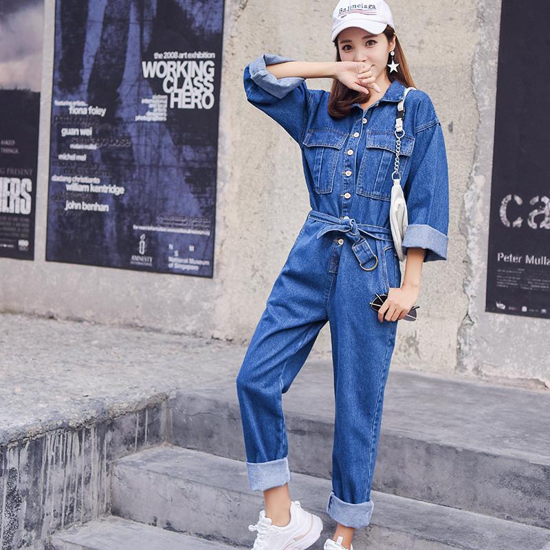 Combinaison Bleu de Travail en Jean EVE 2 Coloris