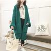 Korobov-Korean-V-Neck-New-Arrival-Cardigans-Auttum-Long-Sleeve-Women-Cardigan-Thick-Solid-Pockets-Female