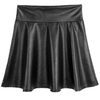 FLORATA-Fashion-New-Patent-Leather-Shorts-Women-Sexy-Casual-Shiny-Metallic-Elastic-Waist-Short-Skirt-Dance