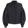 InstaHot-lanterne-manches-chemise-l-gante-blanc-noir-Sexy-bouton-Vintage-Blouse-col-rabattu-bureau-dames