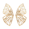 SRCOI-Or-Couleur-Creux-Papillon-Boucles-D-oreilles-Stud-l-gant-Grand-Fan-Forme-En-Alliage