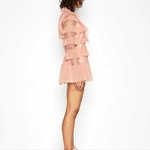 AC-haute-qualit-2019-mode-printemps-dentelle-femmes-maille-Flare-manches-rose-f-e-robes
