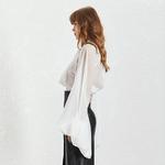 Deuxtwinstyle-mousseline-de-soie-femmes-chemise-col-montant-longue-lanterne-manches-Bandage-arc-Perspective-femme-v