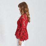 Deuxtwinstyle-mode-rouge-femmes-chemise-col-en-V-manches-longues-vas-es-vider-v-tements-Top