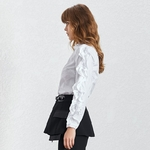 Deuxtwinstyle-d-contract-solide-t-Blouse-Top-femme-2019-nouvelle-mode-mar-e-col-en-V