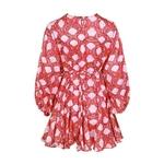 TWOTWINSTYLE-Casual-Print-Dress-For-Women-O-Neck-Long-Sleeve-High-Waist-Bandage-Mini-Dresses-Female
