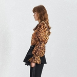 TWOTWINSTYLE-Leopard-Print-Shirt-Women-Puff-Long-Sleeve-Bowknot-With-Vest-Chiffon-Tops-Female-Vintage-2019