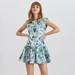 TWOTWINSTYLE-Summer-Print-Off-Shoulder-Women-Dress-Sleeveless-O-Neck-High-Waist-Ruffles-Mini-Dresses-Female
