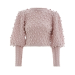 TWOTWINSTYLE-Lantern-Sleeve-Women-s-Sweater-Short-Tops-High-Waist-Ball-Knitting-Pullover-For-Female-Vintage