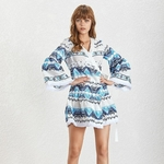 TWOTWINSTYLE-Embroidery-Patchwork-Women-Dress-V-Neck-Flare-Sleeve-High-Waist-Lace-Up-Mini-Dresses-Female