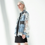 EAM-2019-New-Spring-Summer-Stand-Collar-Long-Sleeve-Blue-Denim-Lace-Split-Joint-Big
