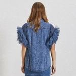 Deuxtwinstyle-t-maille-Patchwork-femmes-veste-revers-sans-manches-bouton-grande-taille-Denim-manteau-femme-mode