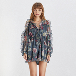 TWOTWINSTYLE-Summer-Print-Women-s-Playsuits-V-Neck-Flare-Sleeve-Off-Shoulder-High-Waist-Slim-Lace