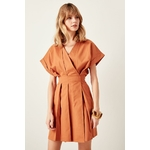 Trendyol-Camel-Double-Breasted-Dress-TCLSS19OA0023