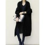 Women-2018-winter-sweaters-ladies-plus-size-black-coarse-wool-lapel-thick-knitwear-gray-oversize-fashion