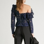 TWOTWINSTYLE-Lace-Shirts-Blouse-Female-Long-Sleeve-Off-Shoulder-Hollow-Out-Asymmetrical-Tops-Female-Autumn-2018