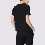 TWOTWINSTYLE-Ruffles-Black-T-Shirt-Ladies-Patchwork-O-Neck-Short-Sleeve-Oversize-T-Shirts-2018-Summer