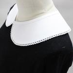Vintage-Detachable-Fashion-Blouse-detachable-false-Retro-Peter-Pan-Lace-Collar-White-Petite-round-neck-pearl