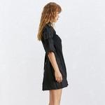 TWOTWINSTYLE-Vestido-De-Retalhos-de-Malha-Para-Mulheres-Gola-Alargamento-Sleeve-Lace-Up-Tamanho-Grande-Vestidos