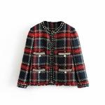 Automne-Tweed-veste-femmes-o-cou-Tweed-manteau-boutons-Slim-l-gant-femmes-Tweed-vestes-Casaco