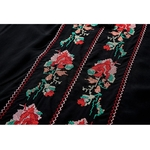Floral-Embroidery-cotton-dress-2017-square-collar-half-Sleeve-A-line-mini-Dresses-black-Cross-stitch