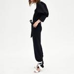 YNZZU-d-contract-noir-femmes-Blouse-chemise-2018-nouveau-printemps-Chic-manches-bouffantes-l-che-coton