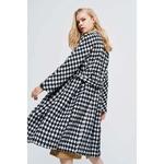 JXYSY-femmes-Trench-Coat-2019-automne-nouveau-mode-Plaid-femme-Slim-mi-long-coupe-vent-avec