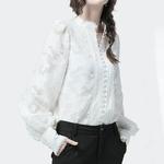 Deuxtwinstyle-Patchwork-dentelle-femmes-chemises-lanterne-manches-longues-col-montant-chemise-cor-enne-Blouse-femme-2019