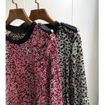 Femmes-chemise-flocage-col-rond-2019-nouveau-Sexy-Semi-transparent-couture-velours-chemise-manches-longues