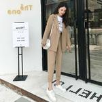 2019-automne-loisirs-costume-ensemble-femme-surdimensionn-Long-Blazer-taille-haute-cheville-longueur-pantalon-droit-cor