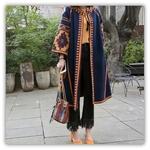 Femmes-nouvelle-mode-offre-sp-ciale-femme-folk-personnalis-rouge-couleur-motif-Long-fonds-tricot-trois